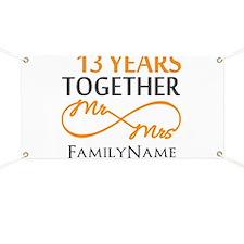 13th anniversary wedding Banner