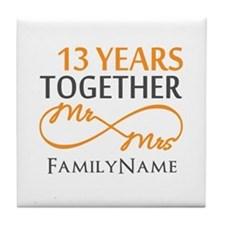 13th anniversary wedding Tile Coaster