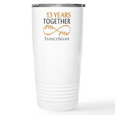 13th anniversary weddin Travel Mug
