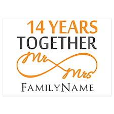 14th anniversary Invitations