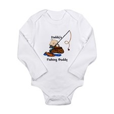 Cute Dad's fishing buddy Long Sleeve Infant Bodysuit