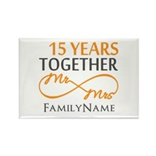15th anniversary Rectangle Magnet (100 pack)