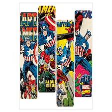Captain America Comic Panels Wall Art