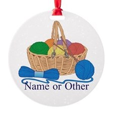 Personalized Knitting Ornament