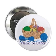 "Personalized Knitting 2.25"" Button"