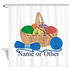 Personalized Knitting Shower Curtain