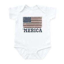 'Merica Flag Vintage Infant Bodysuit