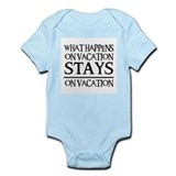 STAYS ON VACATION Infant Bodysuit