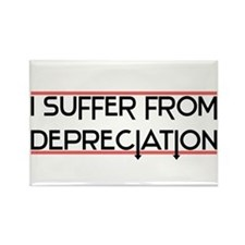 Depreciation Account Rectangle Magnet