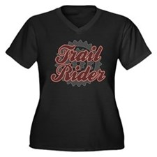 Bicycle Trai Women's Plus Size V-Neck Dark T-Shirt