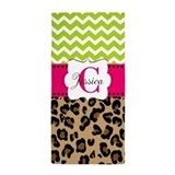 Animal print personalized Beach Towels