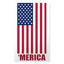 Merica American Flag Decal