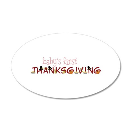 Babys First Thanksgiving Wall Decal