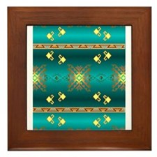 Cute American indian pattern Framed Tile