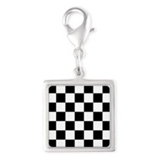 Black And White Checkered Charms