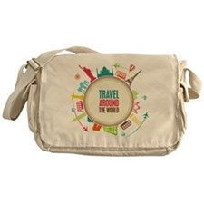 Travel around the world Messenger Bag