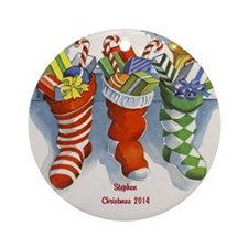 Personalized Christmas Stockings Ornament (round)