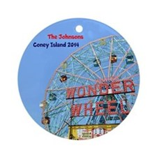 Coney Island Wonder Wheel Ornament (round)