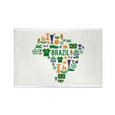 Brazil worl cup Rectangle Magnet