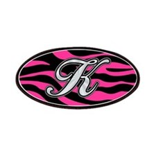 HOT PINK ZEBRA SILVER K Patches