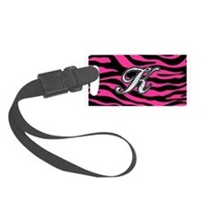 HOT PINK ZEBRA SILVER K Luggage Tag