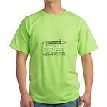 Vintage Weaving Shuttle Diagr Green T-Shirt