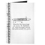 Vintage Weaving Shuttle Diagr Journal