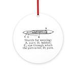 Vintage Weaving Shuttle Diagr Ornament (Round)