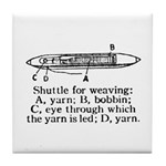 Vintage Weaving Shuttle Diagr Tile Coaster