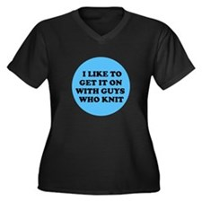 I Like to Get It On with Guys Women's Plus Size V-