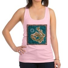 Pirate Adventure Map Racerback Tank Top