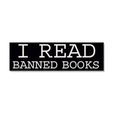 Cute Banned books Car Magnet 10 x 3