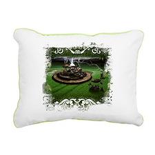 Rectangular Canvas Pillow-Grunge Time Machine