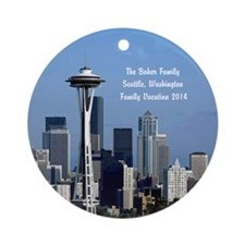 Seattle Wash Space Needle Ornament (round)