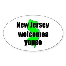 New Jersey Welcome Oval Decal