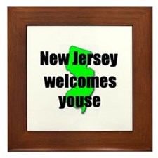 New Jersey Welcome Framed Tile