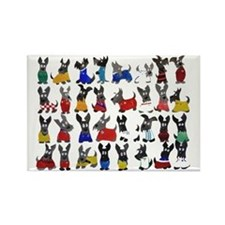 Scottie Dog 'World Cup' Rectangle Magnet