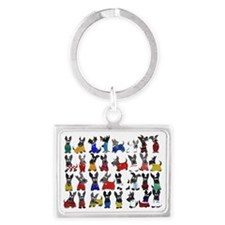 Scottie Dog 'World Cup' Landscape Keychain