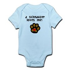 A Schnauzer Loves Me Body Suit