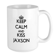 Keep Calm and Kiss Jaxson Mugs