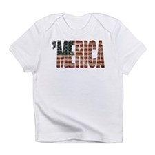 Vintage Distressed MERICA Flag Infant T-Shirt