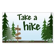 Take a hike Rectangle Decal