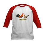 Red Junglefowl Kids Baseball Jersey