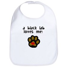 A Black Lab Loves Me Bib