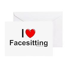 Facesitting Greeting Card