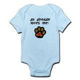 Baby airedales Bodysuits
