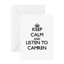 Keep Calm and Listen to Camren Greeting Cards