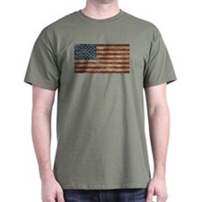 Vintage Distressed American Flag T-Shirt