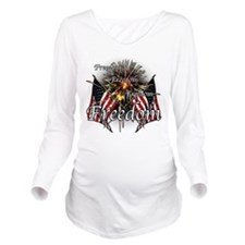 Freedom fireworks Long Sleeve Maternity T-Shirt