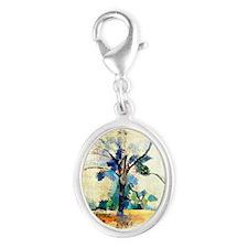 Cezanne - Trees Silver Oval Charm
